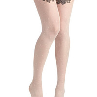 Fan Flair Tights in White