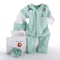 Baby M.D. Three-Piece Layette Set in Doctor's Bag Gift Box
