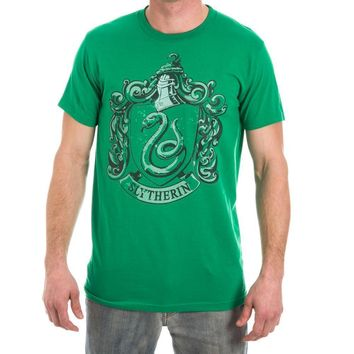 MPTS Harry Potter Slytherin Crest Men's Green T-Shirt - One of Four Houses of Hogwarts