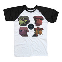Gorillaz Black & White Two Tone Shirt T-Shirt Unisex Men Women Size S M L XL