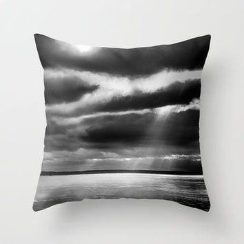 Harsh morning Throw Pillow by HappyMelvin