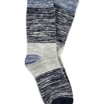 Marled Colorblock Crew Socks