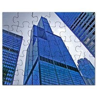 Looking Up at the Tower Puzzle> Chicago Cityscapes> Famous Travels Home Decor