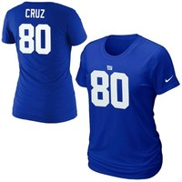 Victor Cruz New York Giants Nike Womens Player Pride Name & Number T-Shirt – Royal Blue