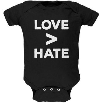 ICIK8UT Activist Love is Greater Than Hate Soft Baby One Piece