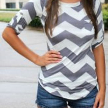 Chevron Stripe Long Sleeve T-Shirt