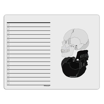 White And Black Inverted Skulls To Do Shopping List Dry Erase Board by TooLoud