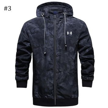 UA Under Armour trend men's sports jacket zipper hoodie windbreaker #3