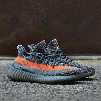Sports Shoes Adidas Yeezy 550 Boost 350 V2 Grey Orange