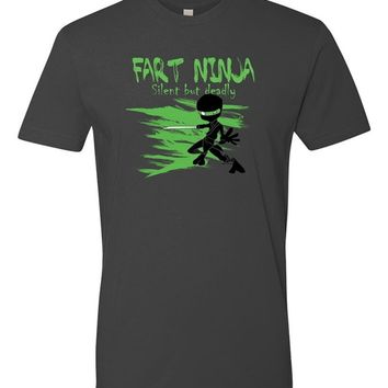 Fart Ninja Silent But Deadly Mens Funny T Shirts