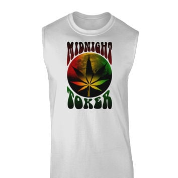 Midnight Toker Marijuana Muscle Shirt