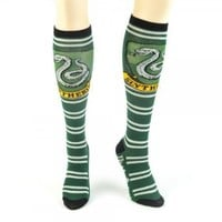 Harry Potter Slytherine Juniors Knee High Socks (Slytherine Green)