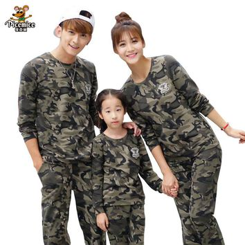 Family Clothing 2017 Autumn Cotton Family Matching Outfits Camouflage Shirt Family Look Mother Daughter Father Boy Clothes