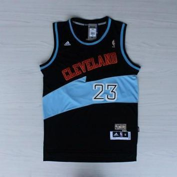 The New Cleveland Cavaliers Lebron James # 23 Basketball Jersey Black /Blue