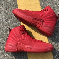 "[ Free Shipping ] Air Jordan 12 ""Bulls"" Basketball Sneaker"