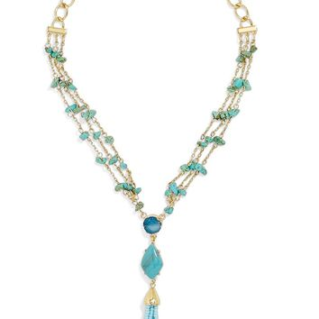 BaubleBar Marija Beaded Tassel Y-Necklace | Nordstrom