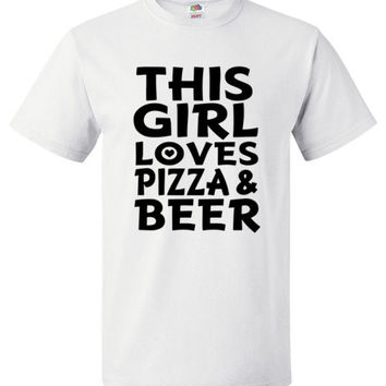 This Girl Loves Pizza & Beer Shirt