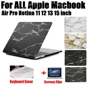 Fashion Marble Print Matte Hard Protector Case For MacBook Air 11 12 13 Pro 13 15 inch with Retina + Keyboard Cover MB03