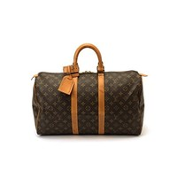 Authentic Vintage Louis Vuitton Brown Monogram Keepall 45