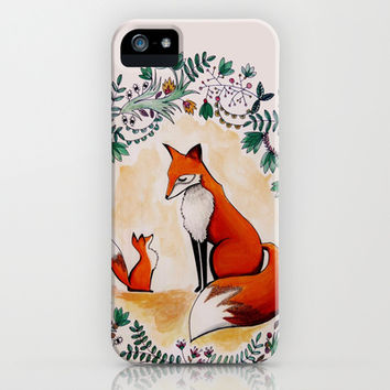 Fox season iPhone & iPod Case by Miss Littlemess