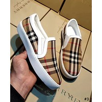 Burberry 2019 new wild female models a pedal casual canvas shoes #3