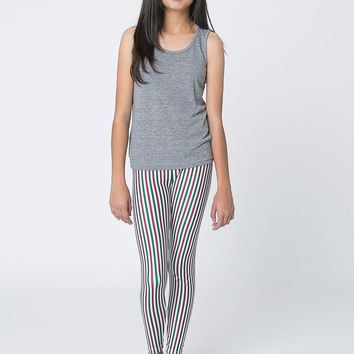 rnt228st - Youth Stripe Nylon Tricot Legging