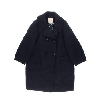 Kate Spade Womens Wool Double-Breasted Coat