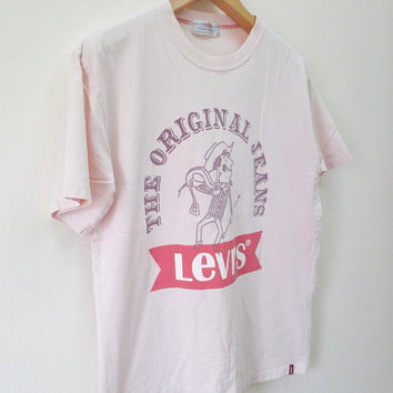 Vintage Levi's Red Tab The Original Jeans T-Shirt Street Wear Swag Urban Top Tee Size L