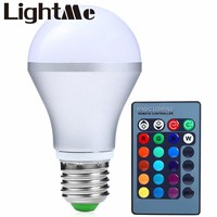 2016 85-265V Colors Changing E27 3W 300LM LED Light Bulb Dimmable RGB Light with IR Remote Spotlight Led Bulbs Light for Party