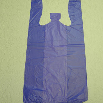 Plastic T-Shirt Bags with Handles You Pick Colors.