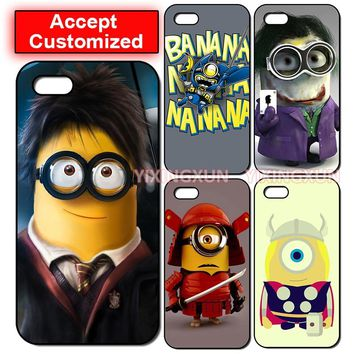 Hot Minion Back Phone Shell Cover Case for Samsung Galaxy S2 S3 S4 S5 Mini S6 Edge Note 2 3 4 5 LG G3 G4 G5 G6