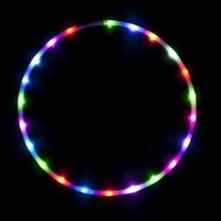 "36"" - 24 Color Changing LED Hula Hoop - Cotton Candy Rainbow"