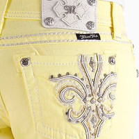 Miss Me Cuffed Yellow Capri Jean