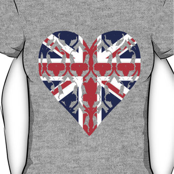 Union Jack Sherlock Wallpaper Heart Women's T-Shirt