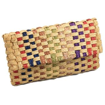 Vintage Italian Straw Clutch Bag