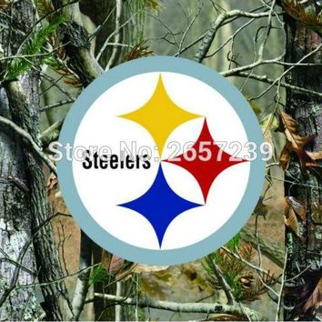 Pittsburgh Steelers Camo real tree logo Flag 3x5FT NFL banner150X90CM 100D  Polyester brass grommets custom flag, Free Shipping