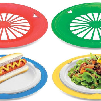 KOVOT Set of 16 Plastic Reusable Paper Plate Holders For 9  Plat  sc 1 st  Wanelo : reusable paper plates - pezcame.com