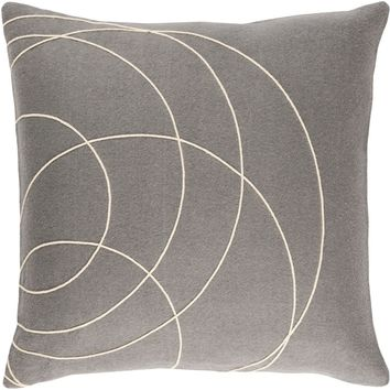 Solid Bold Throw Pillow Gray, Neutral