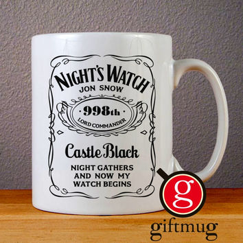 Nights Watch Jon Snow Game Of Thrones Ceramic Coffee Mugs