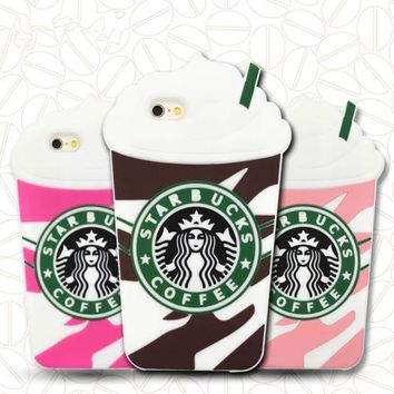 Starbucks Frappuccino Phone Silicone soft Case Cover For Apple iPhone 4 4S SE 5 5S i6 6S 6S Plus i7 7 Plus Cases Gel Shell