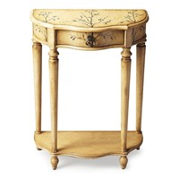 Ashby Traditional Demilune Console Table Beige