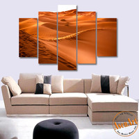 5 Panel Desert Landscape Painting Wall Art Canvas Prints Wall Picture Art for living Room No Frame