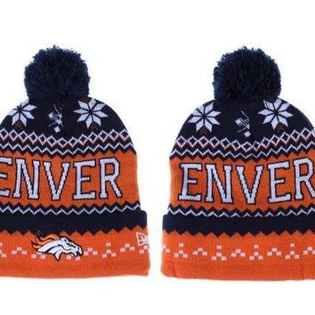 ESB8KY Denver Broncos Beanies New Era NFL Football Hats