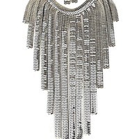 Silver Waterfall Chain Necklace & Earrings SET