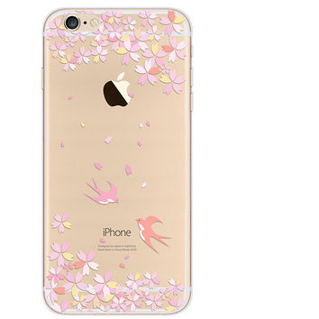 Pink Case TPU Cover for iphone 7 7 Plus & iphone 6 6s Plus & iphone se 5s + Gift Box