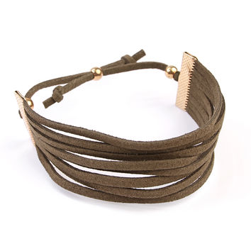 Eight Strand Leather Bracelet