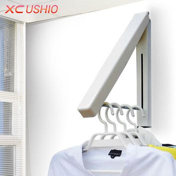 Stainless Steel Wall Hanger Retractable Indoor Clothes Hanger