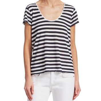 Rag & Bone Laila Striped Tee Shirt