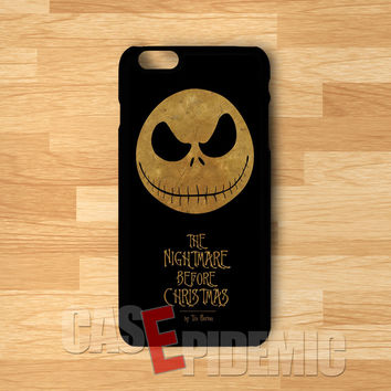 Nightmare Before Christmas jack's head -end for iPhone 6S case, iPhone 5s case, iPhone 6 case, iPhone 4S, Samsung S6 Edge