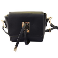 Black Mini Square Shoulder Bag - Choies.com